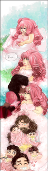 Rose Quartz and Future Vision by waffrus