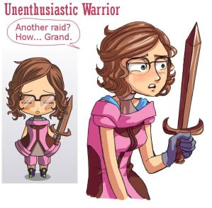 Chibi maker #1- Unenthusiastic Warrior by The-Tabbycat-Witch