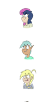 some humans ponys by deoix