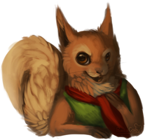 Red Squirrel by Peace-Colby