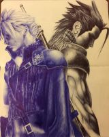 Zack and Cloud - Final Fantasy 7 by TeamWingless