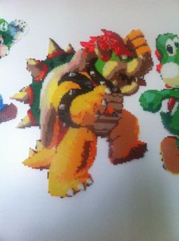 Bowser HUGE Perler Wall Art by Shandab