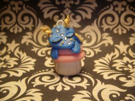 Blue Dragon in a Cupcake by XDtheBEASTXD