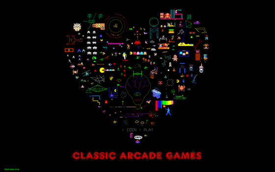 I Heart Classic Arcade Games by crvnjava67