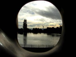 Scene Seen Through a Statue by AFlatEarth