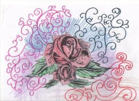 rose and baby rose by MercyTattoos