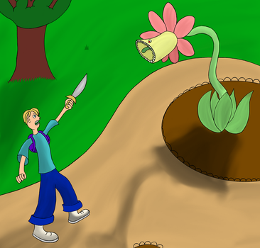man vs plant by martyrex