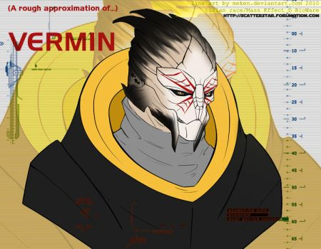 Vermin - Turian Assassin/bodyguard by AnarchicQ