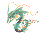 Mega Rayquaza - Pokemon ORAS Vector by firedragonmatty