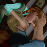 Anna and Kristoff - Kiss by Simmeh