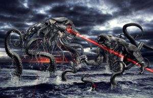 Kraken vs Alien by vs3a