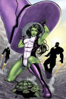 She-Hulk It ain't easy being green by Harpokrates by cerebus873