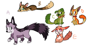 Feathertail puppy adopts - Closed by Kankiko