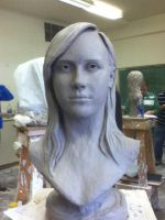 Portrait Bust -frontal view- by CheyenneMcCoy