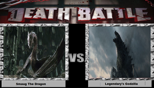Death Battle: Smaug vs. Legendary Godzilla by K13-ZAR