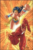 Wonder Woman and The Flash by tai-gar