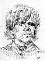 Tyrion Lannister Game of Thrones Sketch Card by Stungeon