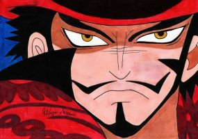 One Piece-Dracule 'Hawk-Eyes' Mihawk by xxLunaBxx