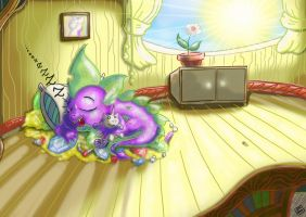Spike first hoard bed by DinoDraketakethecake