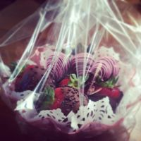 Vodka infused chocolate covered strawberries by Sparkleschic