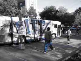 Blue Out: The Buses by Tustin2121