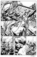Inks - X-Men page by David Finch by adr-ben