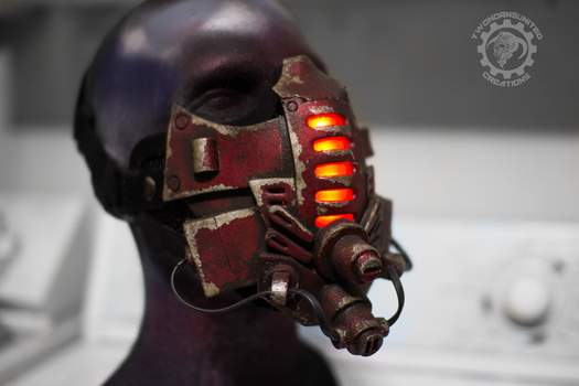 Red Tremor - Cyberpunk LED mask by TwoHornsUnited