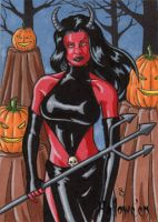 Hallowe'en - Artist Proof 2 (She-Devil) by ElainePerna