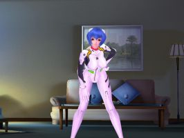 Rei Ayanami sexy beach mod, 2 by tuleon