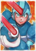 Mega Man X ACEO by fusspot