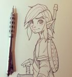 Link from Breath of the Wild Sketch by chrissie-zullo