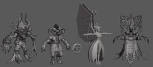 MMO monsters set by jips3d