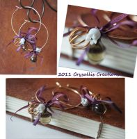 Silken Charm Hoops by CrysallisCreations