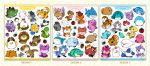 Cutie Patooties:  Fatty Animal Sticker Sets! by zillabean