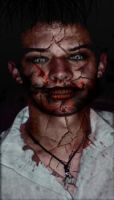 Zombie with colour and blood by Ad4m-89