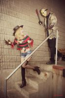 Fem Freddy and Jason: Damsel In Distress by HarleyTheSirenxoxo