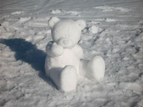 Snow bear by shaneandhisdog