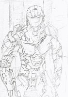 Master Chief Sketch by sudorlais