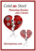 Valentines Day Photoshop Brushes plus Cutouts by ibjennyjenny