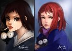 Before And After Mamimi Samejima by LovliKitsune