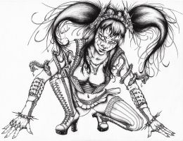 Creepy Crawler - Cyber Goth by maartenvc
