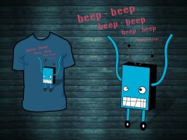 robot t-shirt by Hallaserke