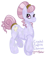 Crystal Empire Librarian: Scrollestia (ASK!) by SpatialHeather