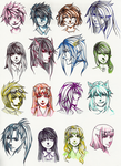 Two Faced portraits by Zenith-Zero