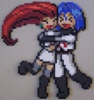 Rocketshipping - Perler Beads by MandyNeko