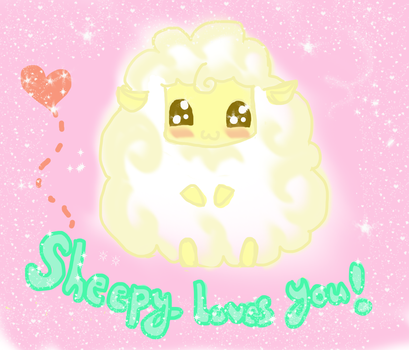 Sheepy loves you! by kittie-chi