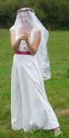 bride on a field - veil 6 by indeed-stock