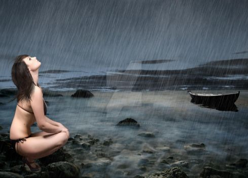 In the Rain by the Water by Purple-Princess-Edit