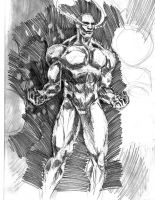 Quick Silver Surfer sketch by indigartistic