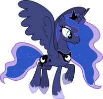 Princess Luna Flying (2) by 90Sigma